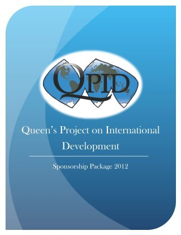 Download our Sponsorship Package 2012 - Queen's Project on ...