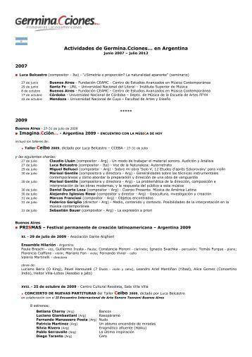 junio 2007-julio 2012 - en .pdf - Germina.Cciones... - primaveras ...