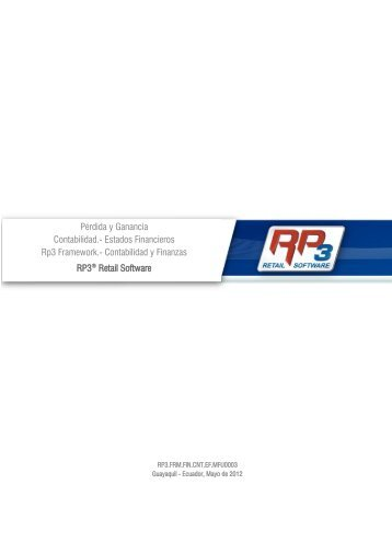 Pérdida y Ganancia - RP3 Retail Software