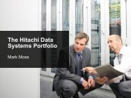 The Hitachi Data Systems Portfolio - Ultima Business Solutions