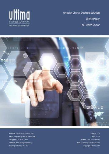 Clinical Desktop Datasheet - Ultima Business Solutions
