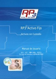 Activos sin Custodio - RP3 Retail Software