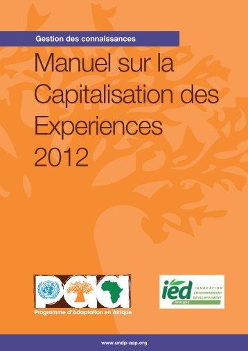 Manuel de Capitalisation des Expériences 2012.pdf - Africa ...