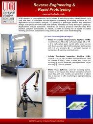 Download Reverse Engineering & Rapid Prototyping Brochure