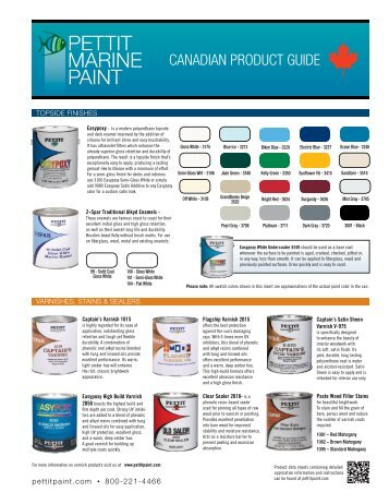Boat Painting Guide Color Card Yachtpaint
