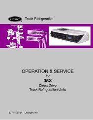 OPERATION & SERVICE 35X - Sunbelt Transport Refrigeration