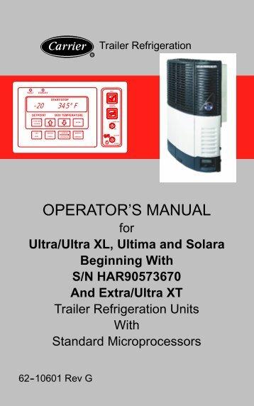genesis tm900 genesis tm1000 multi temp sunbelt transport rh yumpu com Carrier Air Conditioning Manuals Carrier Thermostat Manual