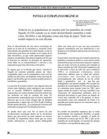 PANTALLAS ULTRAPLANAS ORGÁNICAS - CETis 143