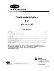 Field Installed Options For Vector 5100