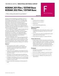 KODAK 201 Film / ESTAR Base KODAK 202 Film / ESTAR ...