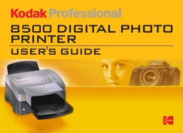 Operating the 8500 Printer - KODAK Digital Cameras, Printers ...