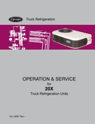 OPERATION & SERVICE 20X - Sunbelt Transport Refrigeration