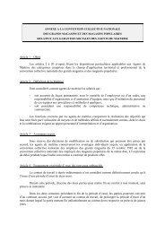 ANNEXE A LA CONVENTION COLLECTIVE NATIONALE - UCV
