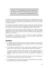 Annexe Classification professionnelle - UCV