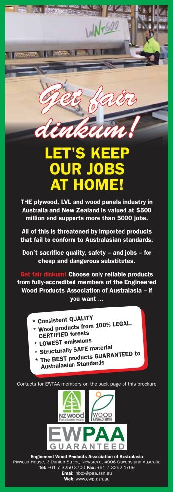 Get fair dinkum! - Engineered Wood Products Association of ...