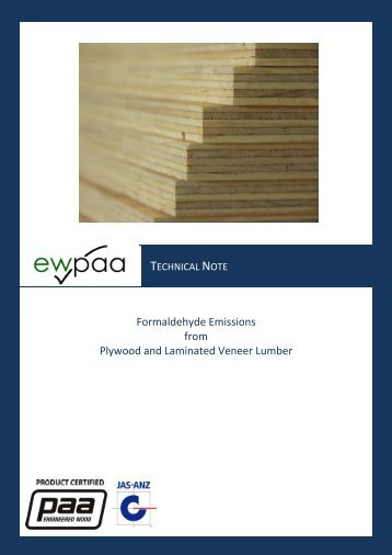 Formaldehyde Emissions - Engineered Wood Products Association ...
