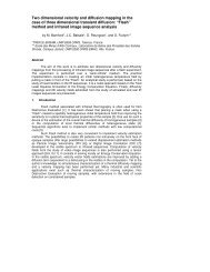 Two dimensional velocity and diffusion mapping in the case ... - QIRT