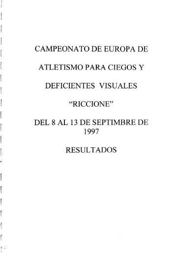 CAMPEONATO DE EUROPA DE