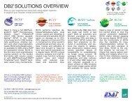 DB2 SOLUTIONS OVERVIEW - Enterprise Systems Associates, Inc.