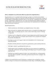 Etiske retningslinjer for hospitalsfysikere - Dansk Selskab for ...