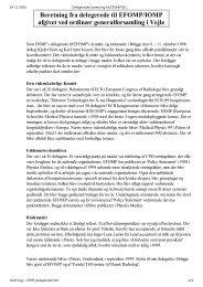 Beretning fra delegerede til EFOMP og IOMP