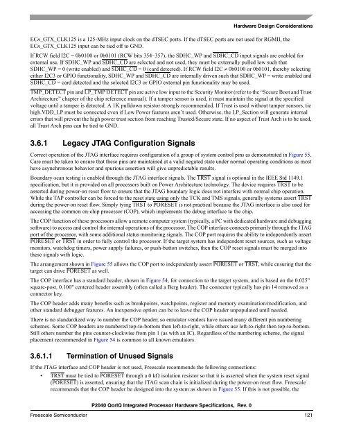 P2040 QorIQ Integrated Processor Hardware Specifications