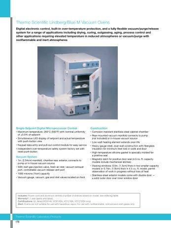 Lindberg/Blue M Vacuum Ovens Brochure (PDF) - McQueen Labs
