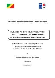 PLAN D'ACTIONS PRIORITAIRES - Africa Adaptation Programme