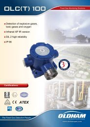 Detection of explosive gases, toxic gases and oxygen Infrared XP IR ...