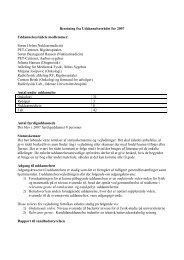 Uddannelsesrådets beretning - Dansk Selskab for Medicinsk Fysik