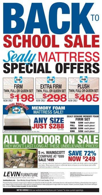 2012-08-19 Mattress Sale.indd - Levin Furniture