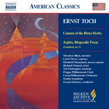 Download Liner Notes PDF - Milken Archive of Jewish Music