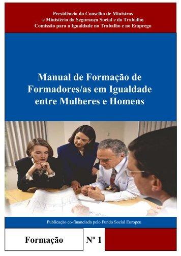Manual de Formação de Formadores/as em Igualdade entre ... - Cite