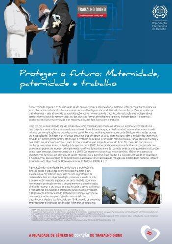 Proteger o futuro: Maternidade, paternidade e trabalho - Cite