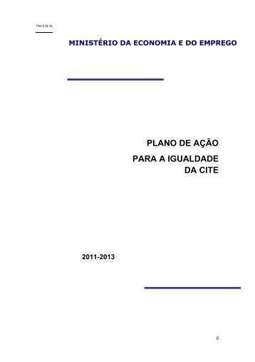 PLANO DE AÇÃO PARA A IGUALDADE DA CITE