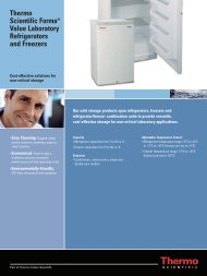 Thermo Scientific Forma® Value Laboratory Refrigerators and ...