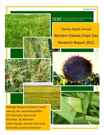 23rd Annual Western Dakota Crops Day - NDSU Agriculture