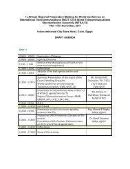 Agenda African WCIT Meeting