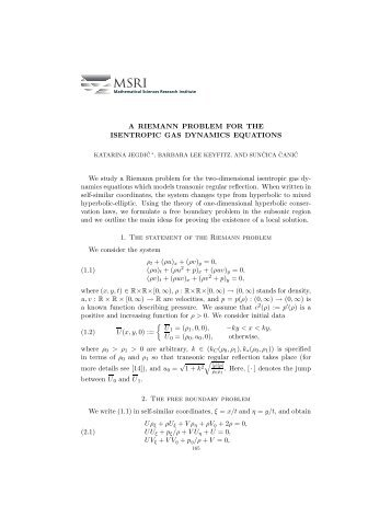 A Riemann Problem for the Isentropic Gas Dynamics Equations