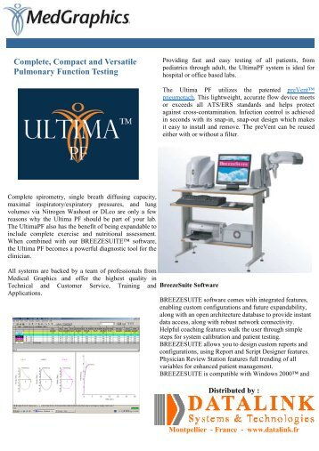 Complete, Compact and Versatile Pulmonary Function Testing