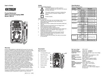 RadioShack 19-Range Analog Multimeter (User's Guide)