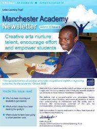 Manchester Academy Newsletter | Autumn, 2009: Issue 09