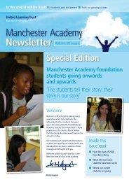 Manchester Academy Newsletter | Autumn 2008: Issue 06