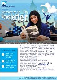 Manchester Academy Newsletter   Winter, 2010: Issue 12