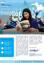 Manchester Academy Newsletter | Winter, 2010: Issue 12