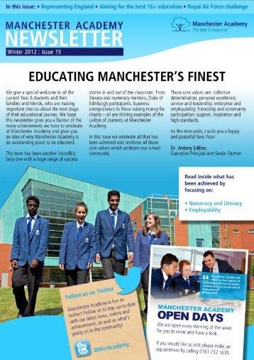 Winter, 2012: Issue 15 - Manchester Academy
