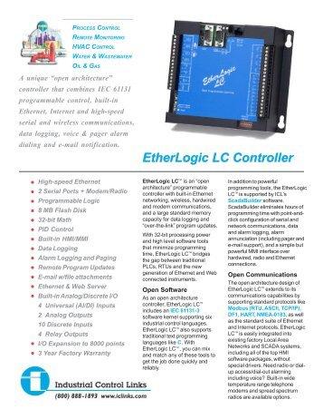 EtherLogic LC.pmd - Industrial Control Links
