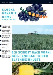 Global Organic News - BIO TROPIC GmbH