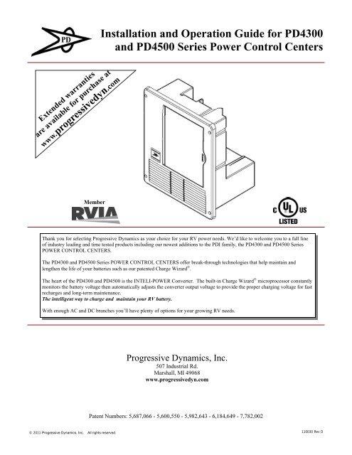 Installation Instructions Progressive Dynamics Inc