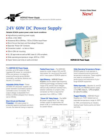 New! 24V 60W DC Power Supply - Industrial Control Links